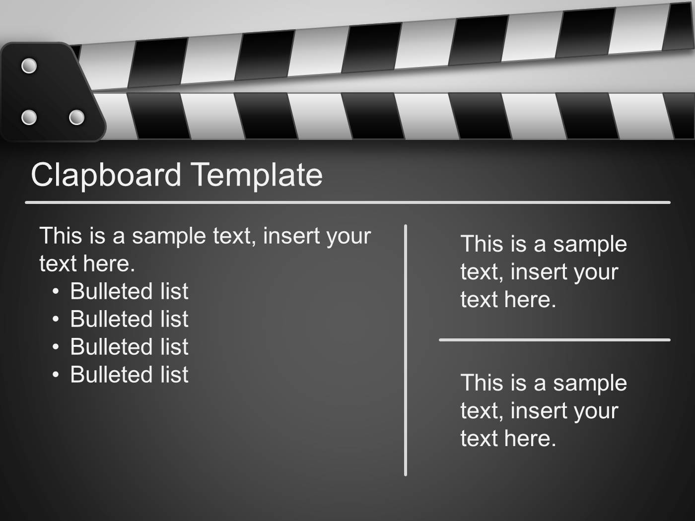 Film PowerPoint Template PowerPoint Presentation PPT