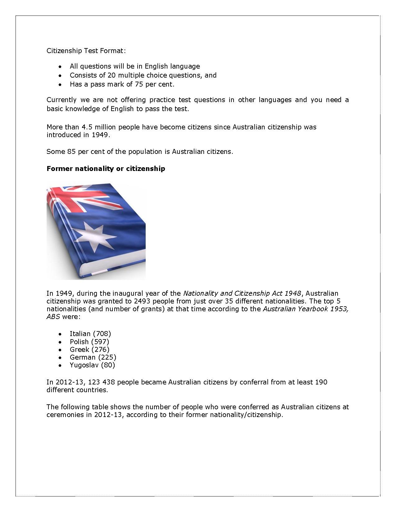 Australian Citizenship Practice Test Online - New Website PowerPoint