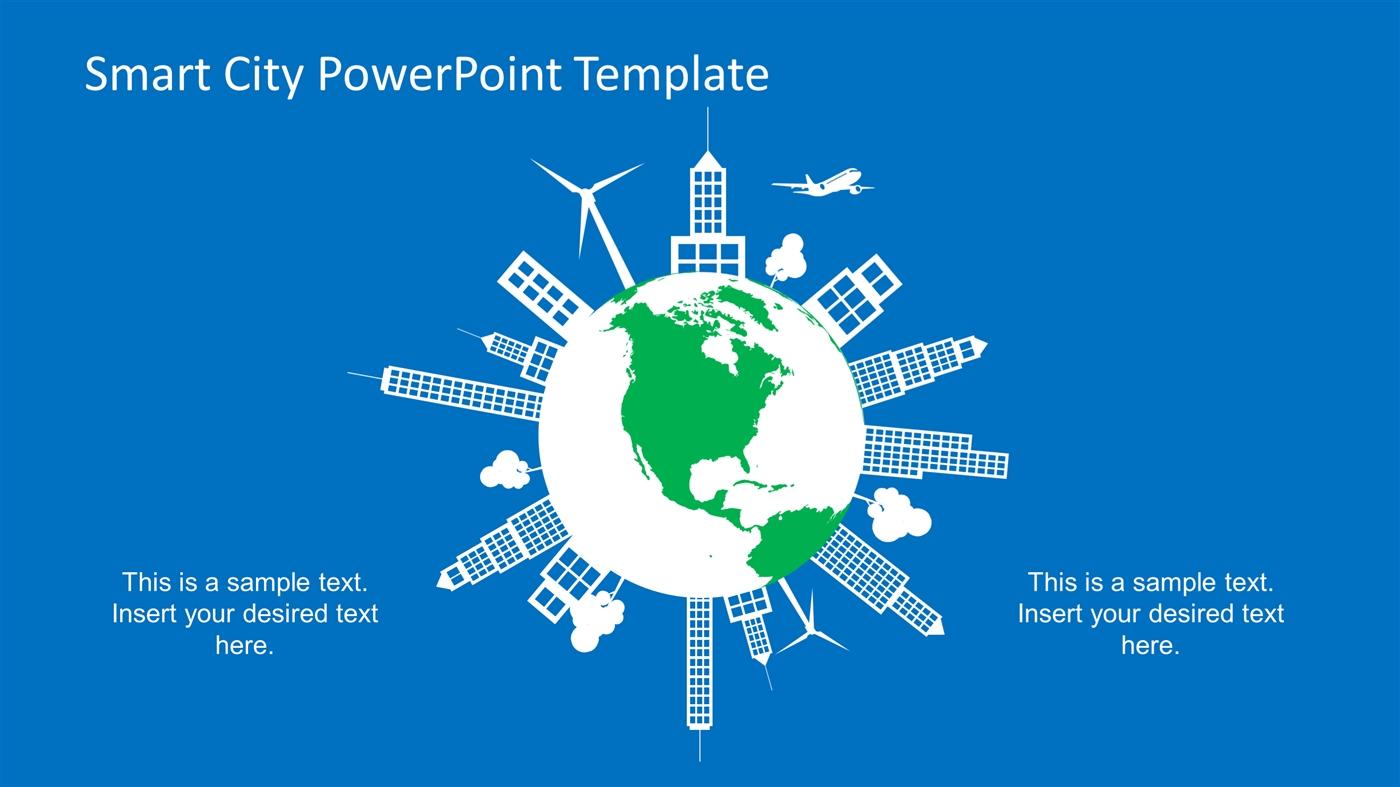 slidemodel - smart city flat design powerpoint template, Modern powerpoint