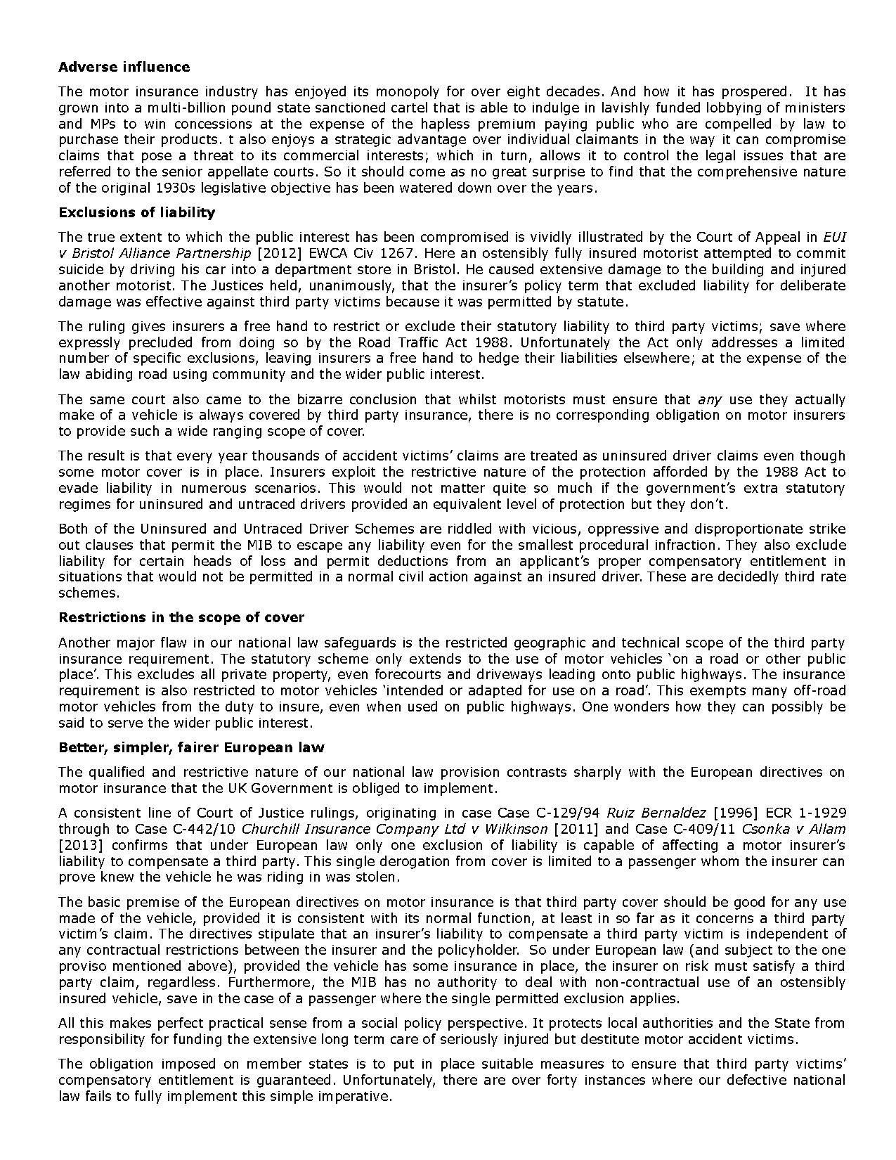 Nicholas Bevan Motor Insurance Reform Powerpoint Presentation Ppt