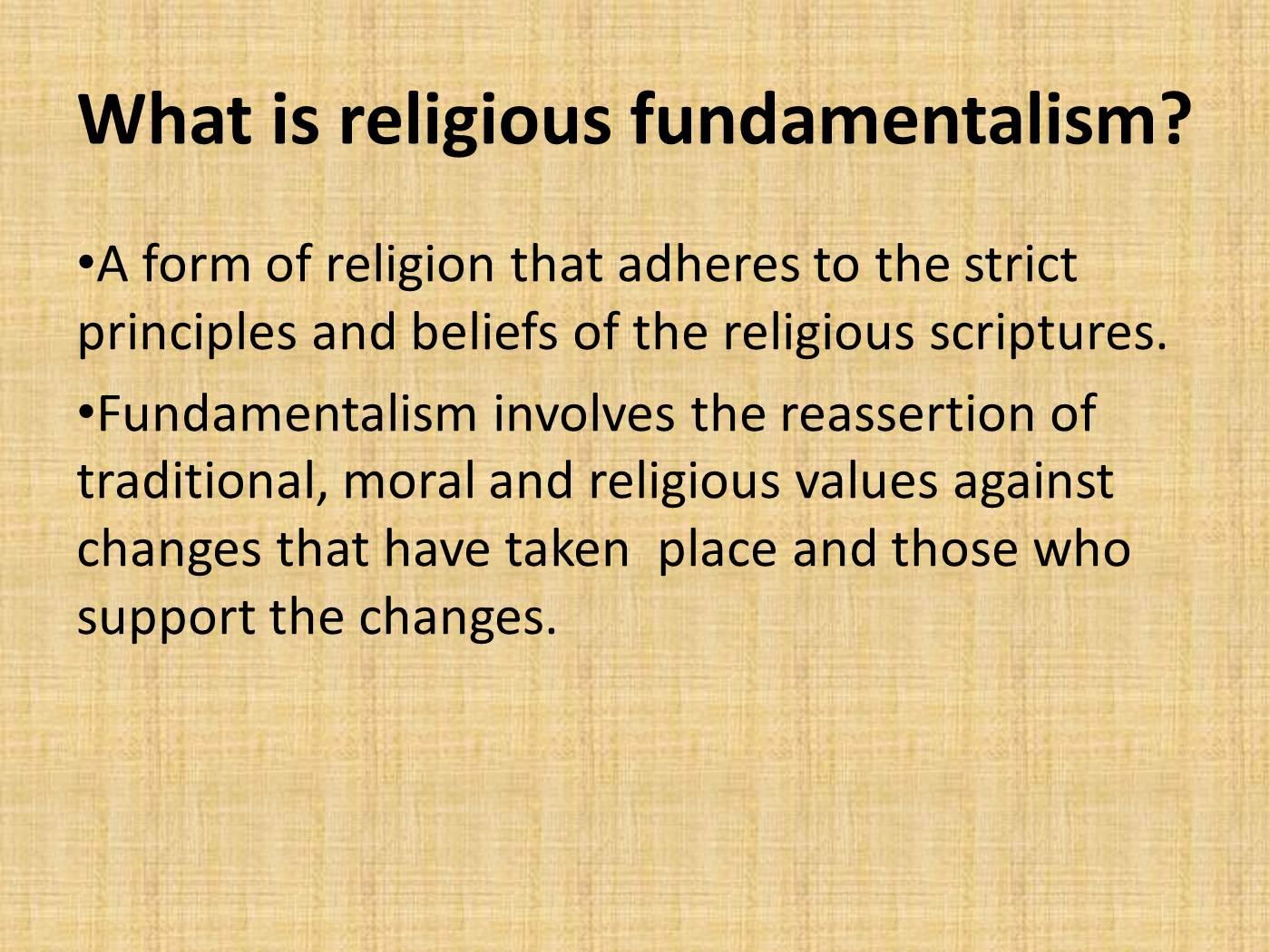 religious fundamentalism essay