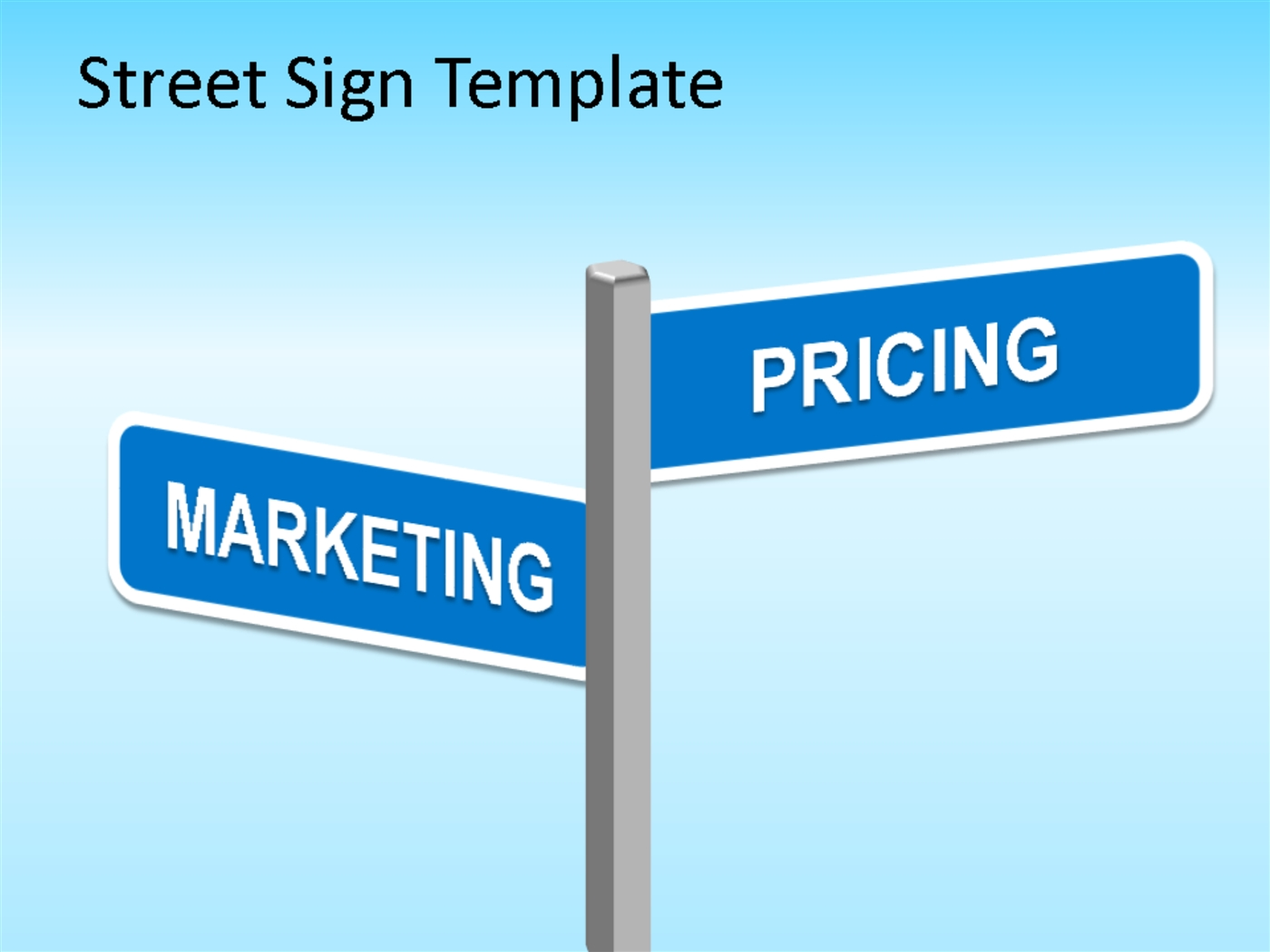 Street Sign Powerpoint Template PowerPoint Presentation PPT