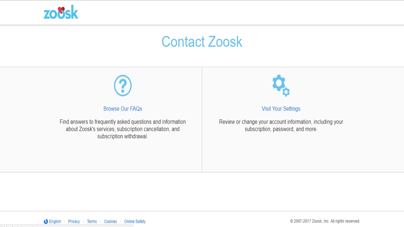 How to contact zoosk by phone