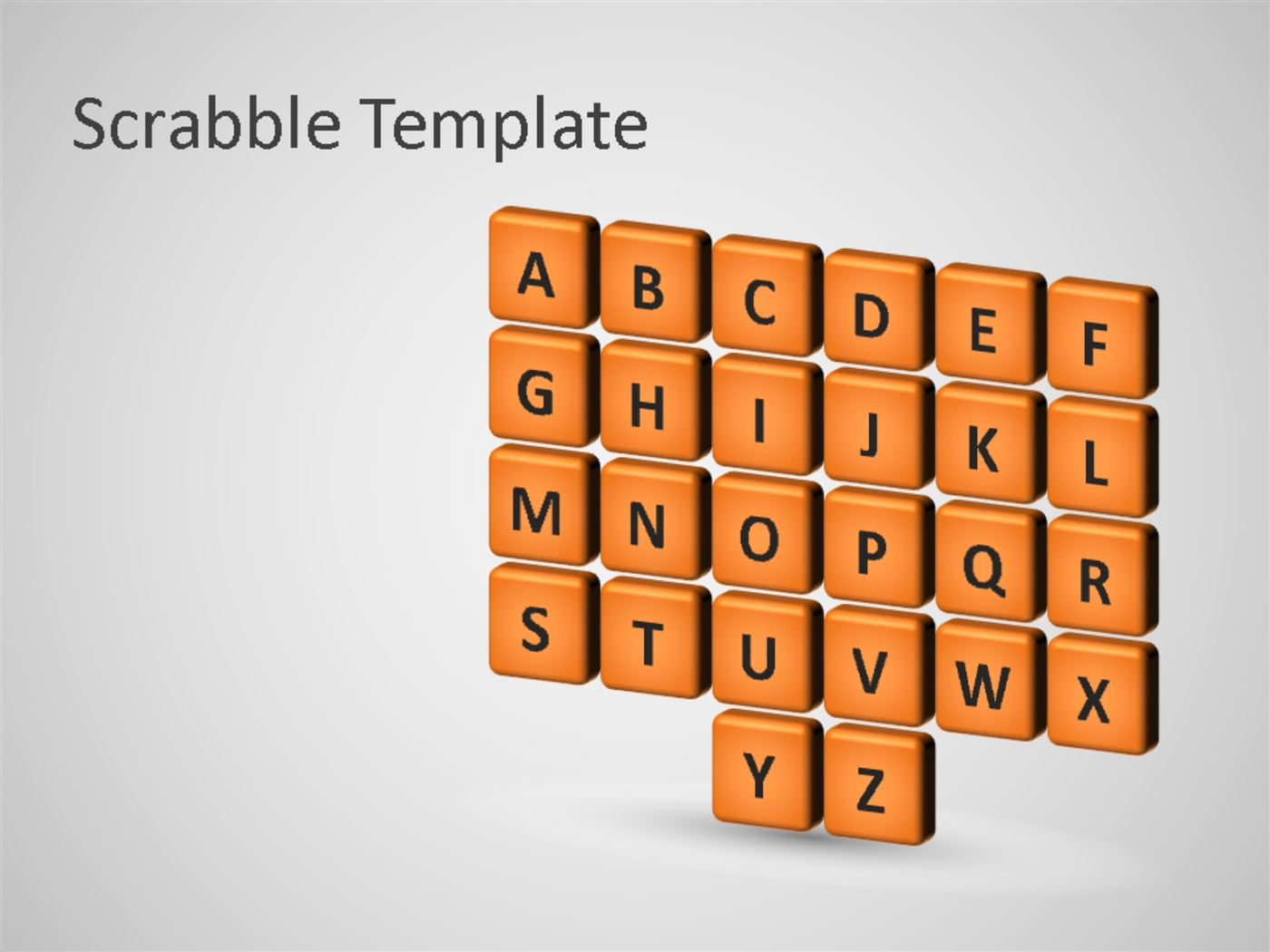 Business scrabble editable powerpoint template.